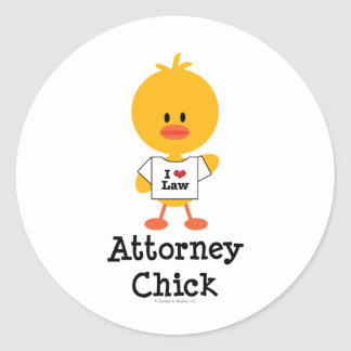 Attorney Chick Stickers