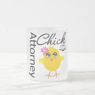 Attorney Chick v1 Frosted Glass Coffee Mug