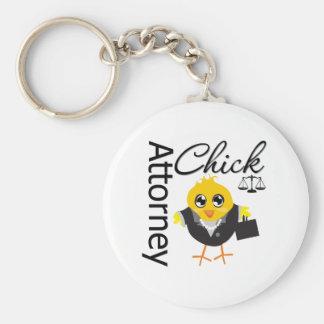 Attorney Chick v2 Basic Round Button Keychain