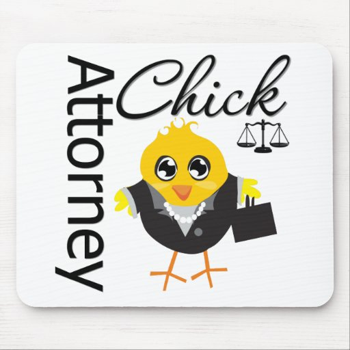 Attorney Chick v2 Mouse Pad