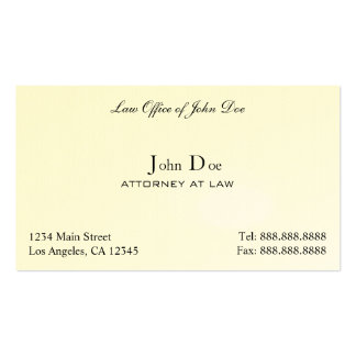 Attorney Clean - Law Office Double-Sided Standard Business Cards (Pack Of 100)