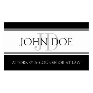 Attorney D Stripe W/W Double-Sided Standard Business Cards (Pack Of 100)