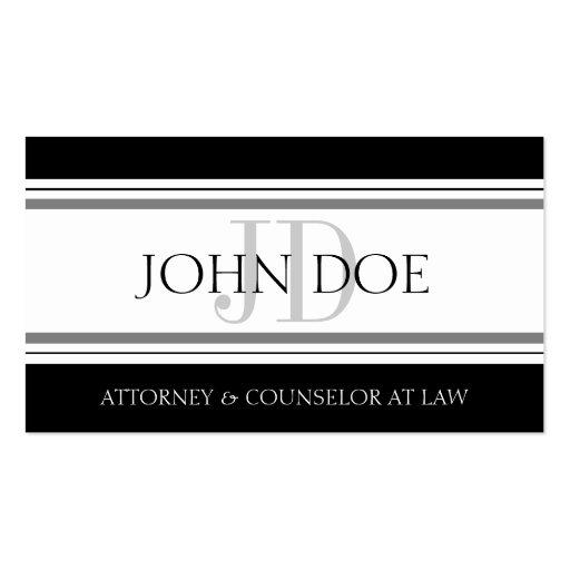 Attorney D Stripes W/W Business Card Templates