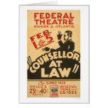 Attorney Drama 1938 WPA Card