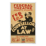 Attorney Drama 1938 WPA Poster