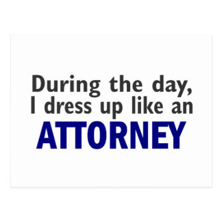 Attorney During The Day Postcard