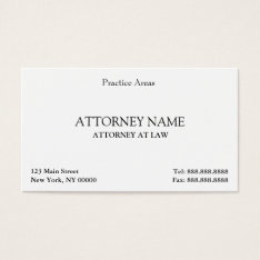 Attorney Elegant Clean Business Card at Zazzle
