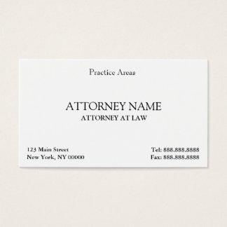 Attorney Elegant Clean Business Card