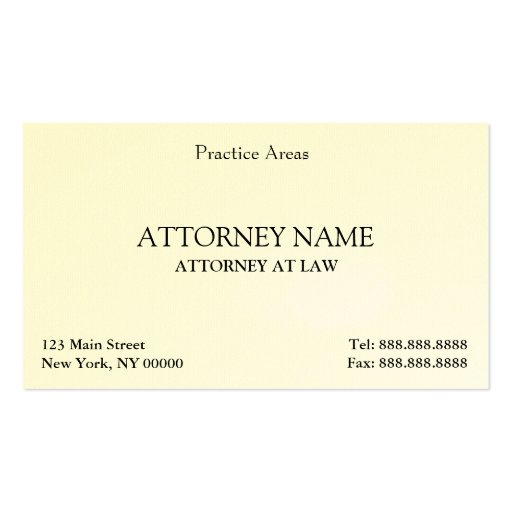 Attorney Elegant Clean Double Sided Standard Business
