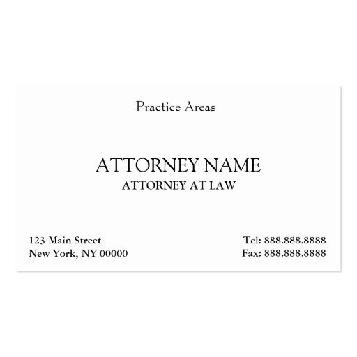 Attorney Elegant Clean Business Card Templates (front side)