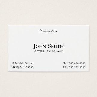 Attorney, Elegant Clean II Business Card