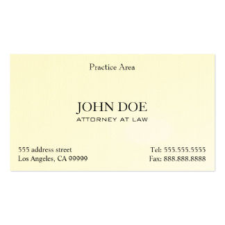 Attorney Elegant Clean II Business Card Template