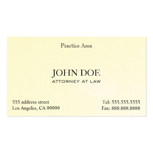 Attorney Elegant Clean II Business Card Template