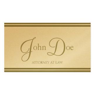 Attorney Elegant Script/Stripes Golden Business Card Templates