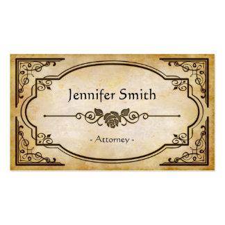 Attorney - Elegant Vintage Antique Business Card