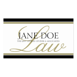 Attorney Gold LAW Script Business Card