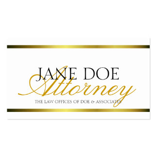 Attorney Gold Metallic Script Double-Sided Standard Business Cards (Pack Of 100)