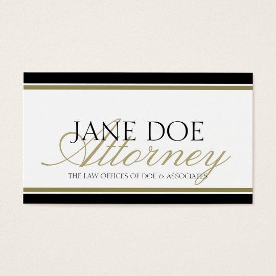 Attorney Gold Script Business Card