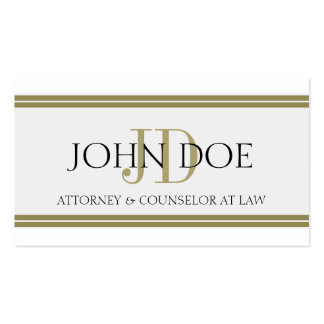 Attorney Gold Stripes - Available Letterhead - Business Card Template