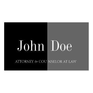 Attorney Half/Half Black/Graphite Business Card