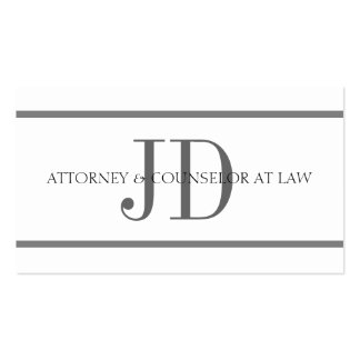 Attorney Horiz Stripe W/W Business Card