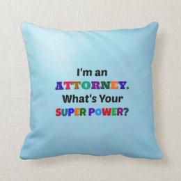 Attorney Humor Throw Pillow