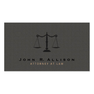 Attorney Justice Scale Dark Taupe Texture Look Business Card