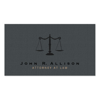 Attorney Justice Scale Gray texture Background Business Cards