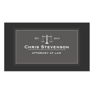 Attorney Justice Scale Traditional Black and White Double-Sided Standard Business Cards (Pack Of 100)