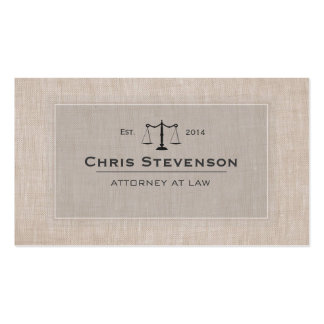 Attorney Justice Scale Traditional Vintage Style Double-Sided Standard Business Cards (Pack Of 100)