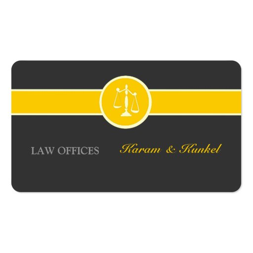 Attorney Justice Scales Business Card Template