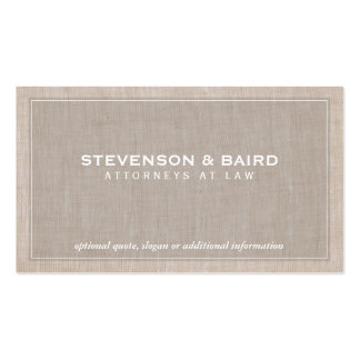 Attorney Law Office Linen Texture Look (No Line) Business Card Templates