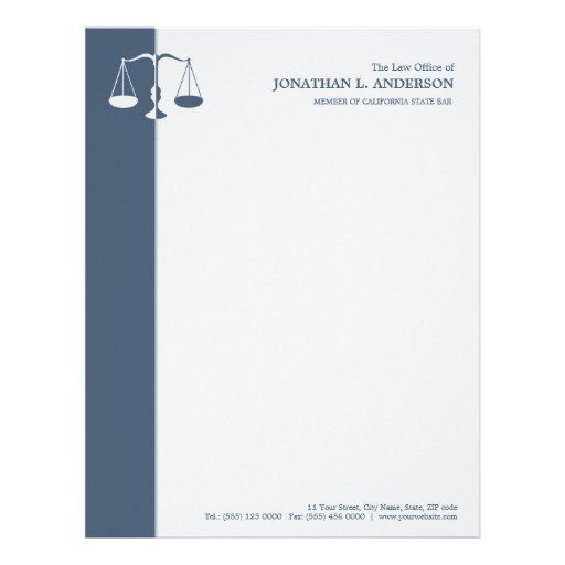 Attorney / Lawyer - Blue letterhead | Zazzle