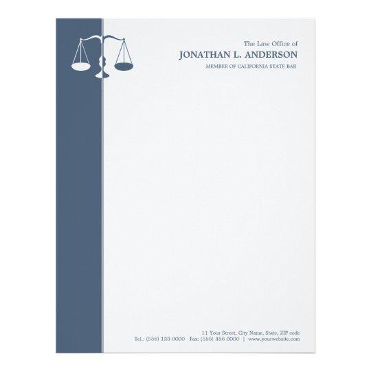 Attorney / Lawyer - Blue letterhead