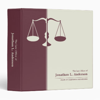 Attorney / Lawyer Burgundy business binder