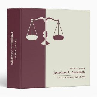 Attorney / Lawyer Burgundy business binder