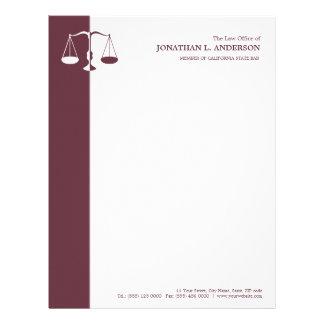 Attorney at law letterhead zazzle attorney lawyer burgundy letterhead spiritdancerdesigns Choice Image