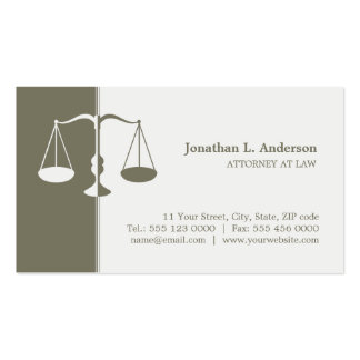 Attorney / Lawyer business card
