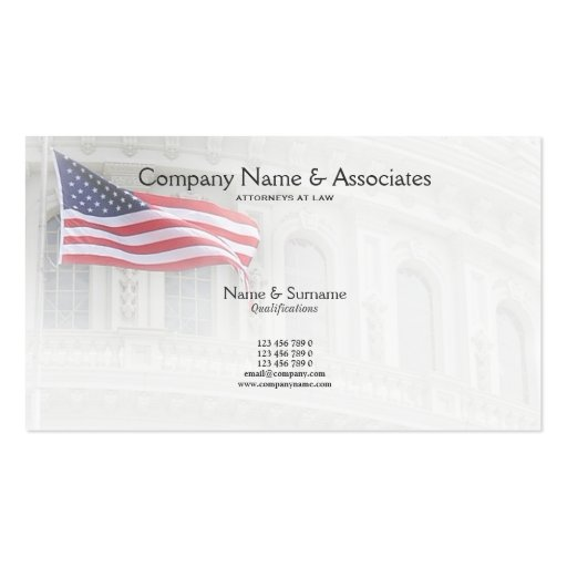 attorney lawyer doublesided standard business cards pack