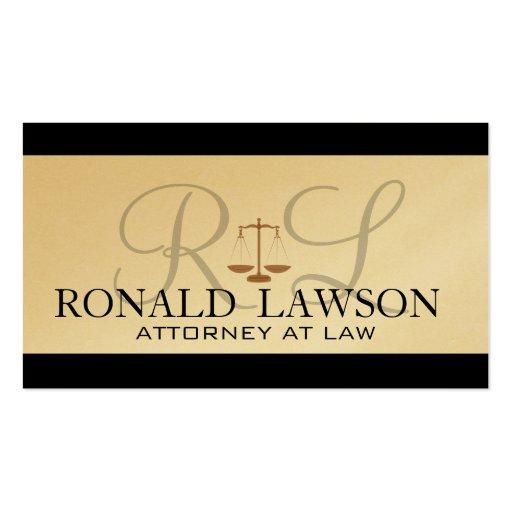 Attorney lawyer business cards monogram zazzle