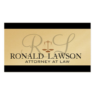 Attorney Lawyer Business Cards Monogram