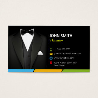 Attorney Lawyer Consultant Tuxedo Businessman Suit Business Card