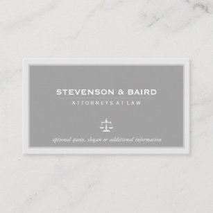 Law student business cards templates zazzle attorney lawyer elegant gray business card colourmoves
