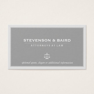 Attorney Lawyer Elegant Gray Business Card