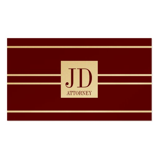 Attorney Lawyer Gold Paper Cherry White Pendant Business Card Template