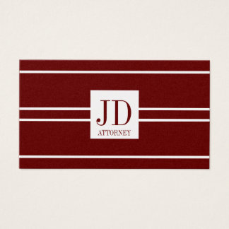 Attorney Lawyer Gold Paper Cherry White Pendant Business Card