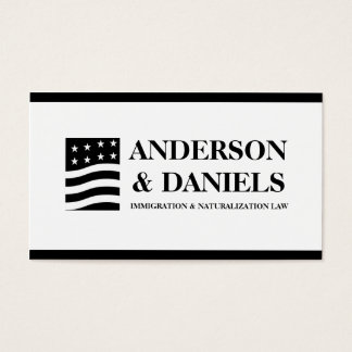 Attorney Lawyer Immigration Naturalization Law Business Card