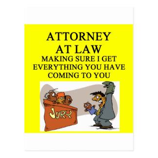 attorney lawyer joke postcard