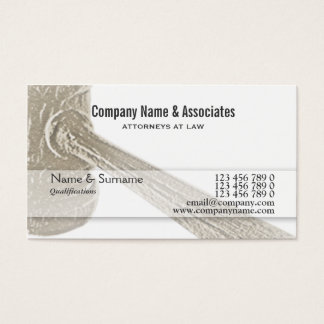 Attorney Lawyer Judge Auctioneer gavel Business Card