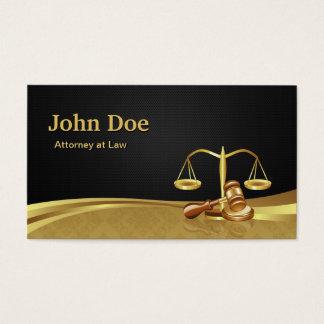 Attorney Lawyer Justice Elegant Black Gold Damask Business Card